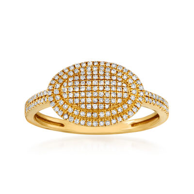 .25 ct. t.w. Pave Diamond Ring in 14kt Yellow Gold
