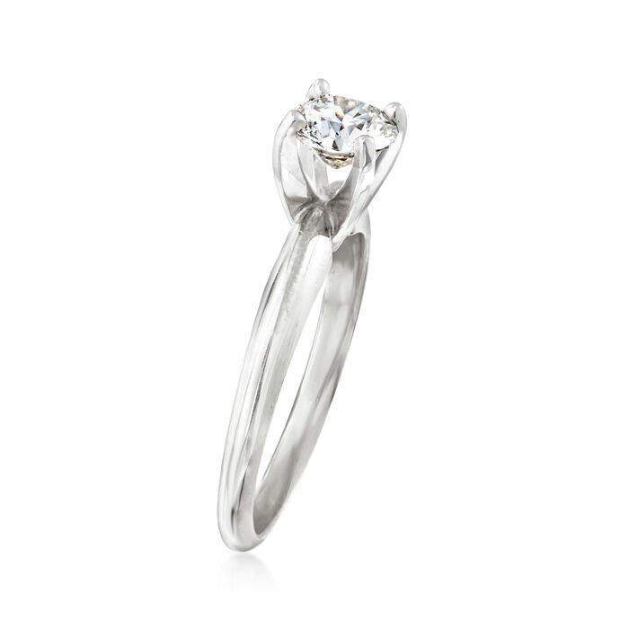 1.01 Carat Certified Diamond Solitaire Engagement Ring in 14kt White Gold