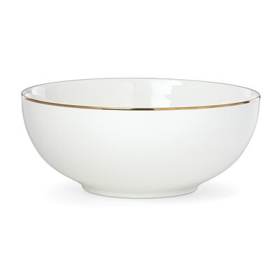 "Lenox ""Trianna White"" Medium Porcelain Serving Bowl, , default"