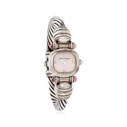 C. 2000 Vintage David Yurman Woman's 21mm Tourmaline 21mm Quartz Watch in Sterling Silver, , default
