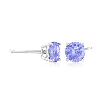 .95 ct. t.w. Tanzanite Stud Earrings in 14kt White Gold, , default