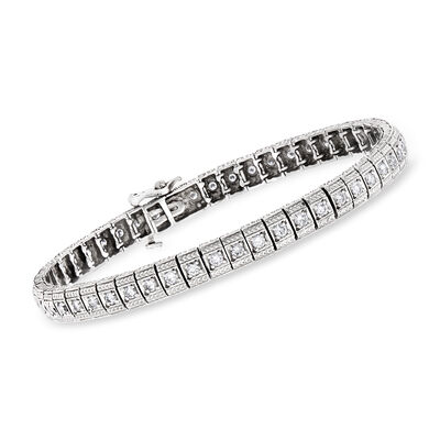 C. 1980 Vintage 2.00 ct. t.w. Diamond Bracelet in 14kt White Gold