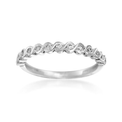 Henri Daussi .17 ct. t.w. Diamond Wedding Ring in 14kt White Gold, , default