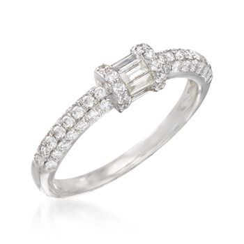 .63 ct. t.w. Diamond Ring in 18kt White Gold, , default
