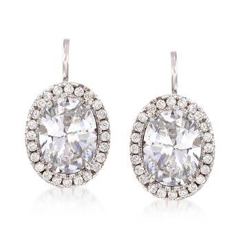 2.75 ct. t.w. CZ Drop Earrings in Sterling Silver, , default