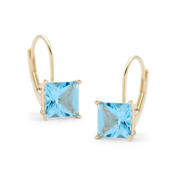 2.80 ct. t.w. Blue Topaz Earrings in 14kt Yellow Gold, , default