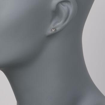 5mm 14kt White Gold Ball Stud Earrings, , default
