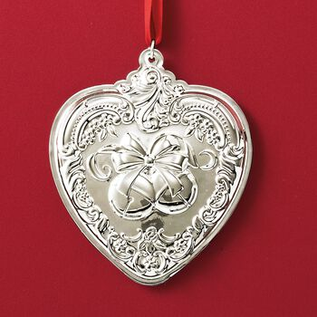 "Wallace 2018 Annual ""Grande Baroque"" Sterling Silver Heart Ornament - 27th Edition, , default"