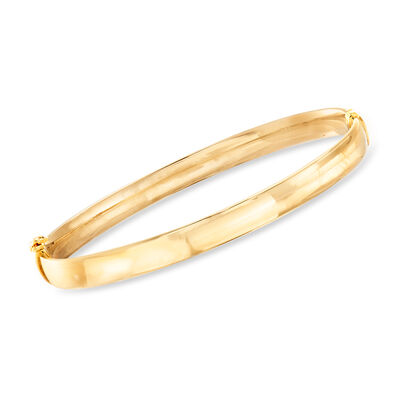 Italian 18kt Yellow Gold Bangle Bracelet