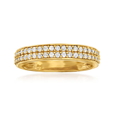 .50 ct. t.w. Diamond Double-Row Ring in 18kt Gold Over Sterling