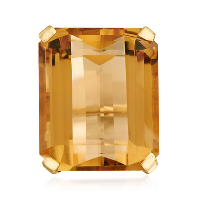 C. 1960 Vintage 45.36 Carat Citrine Ring in 14kt Yellow Gold, , default