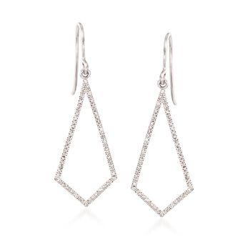 .20 ct. t.w. Diamond Open Kite Drop Earrings, , default