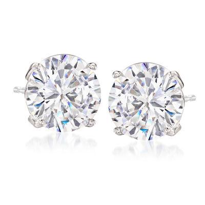 6.00 ct. t.w. CZ Stud Earrings in Sterling Silver