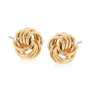 Italian 14kt Yellow Gold Rosette Stud Earrings , , default
