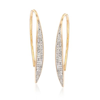 .23 ct. t.w. Diamond Navette Drop Earrings in 14kt Yellow Gold, , default
