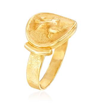 Italian 18kt Gold Over Sterling Tagliamonte Pegasus Ring, , default