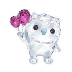 "Swarovski Crystal ""Hoot- Let's Celebrate"" Purple and Clear Crystal Owl Figurine, , default"