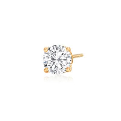 .50 Carat Diamond Single Stud Earring in 14kt Yellow Gold