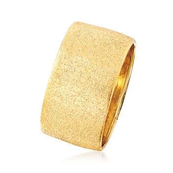 Italian Textured 14kt Yellow Gold Ring
