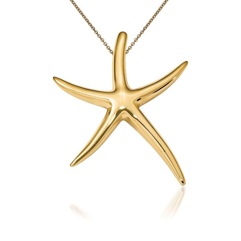 14kt Yellow Gold Starfish Pendant