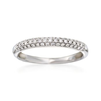 .25 ct. t.w. Pave Diamond Wedding Ring in 14kt White Gold, , default