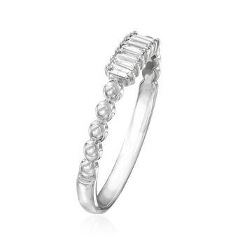 .10 ct. t.w. Diamond Multi-Baguette Ring in 14kt White Gold