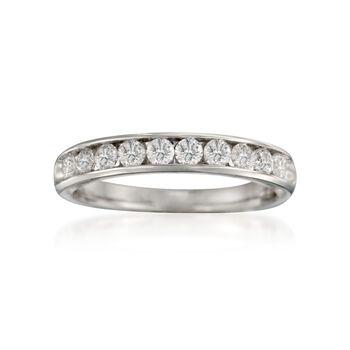 .75 ct. t.w. 10-Stone Diamond Wedding Ring in 14kt White Gold, , default