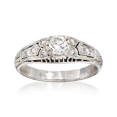 C. 1970 Vintage .51 ct. t.w. Diamond Ring in Platinum, , default