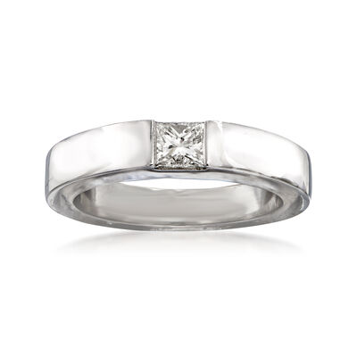 C. 1997 Vintage Cartier .25 Carat Diamond Ring in 18kt White Gold, , default