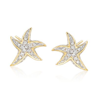 .15 ct. t.w. Diamond Starfish Earrings, , default
