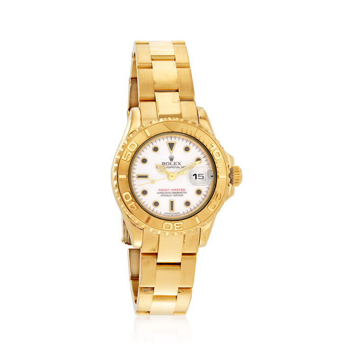 Pre-Owned Rolex Yacht-Master Women's 29mm Automatic 18kt Yellow Gold Watch