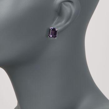 10.00 ct. t.w. Amethyst Stud Earrings in 14kt White Gold , , default