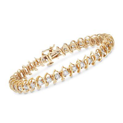 5.00 ct. t.w. Diamond S-Link Bracelet in 14kt Yellow Gold, , default