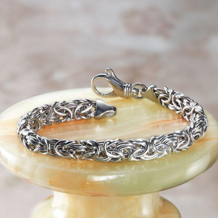 Sterling Silver Small Byzantine Bracelet