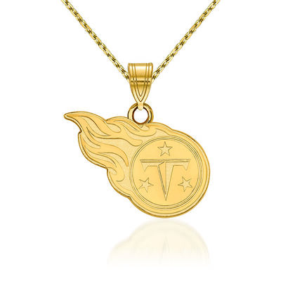 14kt Yellow Gold NFL Tennessee Titans Pendant Necklace. 18""