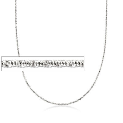 Italian 1.5mm Sterling Silver Adjustable Slider Crisscross Chain Necklace
