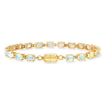 Ethiopian Opal Tennis Bracelet in 14kt Gold Over Sterling