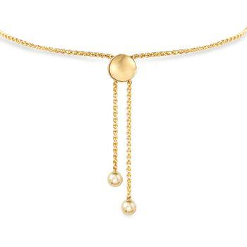 14kt Yellow Gold Personalized Disc Bolo Bracelet, , default
