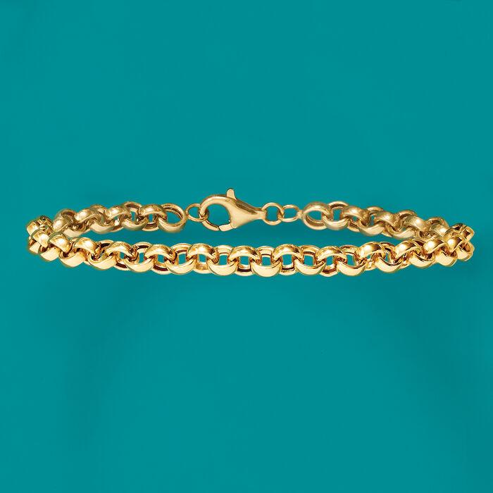 18kt Yellow Gold Rolo-Link Bracelet