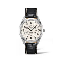 Longines Heritage Railroad Men's 40mm Automatic Stainless Steel Watch With Black Alligator, , default