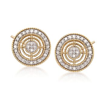 .20 ct. t.w. Diamond Circle Earrings in 14kt Yellow Gold , , default