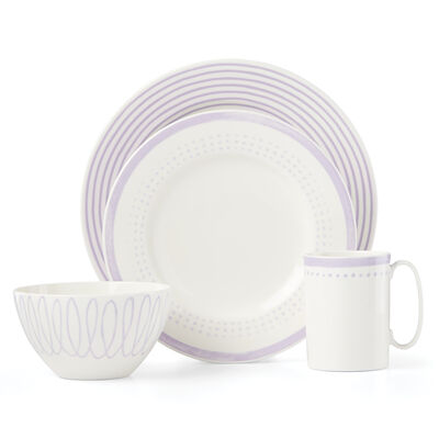 "Kate Spade New York ""Charlotte Street East"" 4-pc. Lilac Place Setting"
