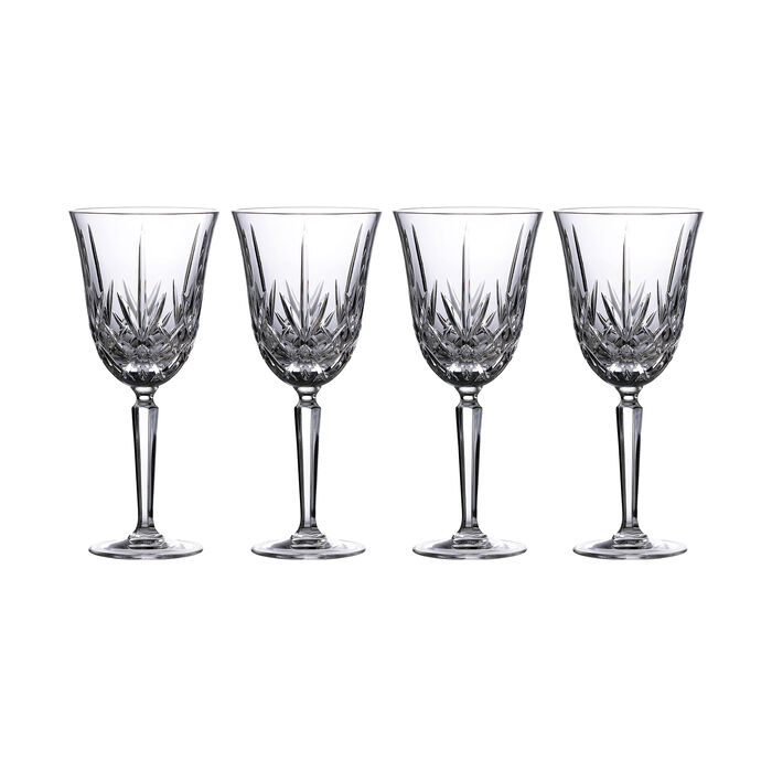 "Marquis by Waterford Crystal ""Maxwell"" Set of 4 Goblet Glasses from Italy, , default"