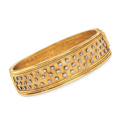 C. 1980 Vintage .75 ct. t.w. Diamond Bracelet in 18kt Yellow Gold, , default