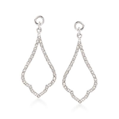 .25 ct. t.w. Diamond Open Drop Earring Jackets in Sterling Silver, , default
