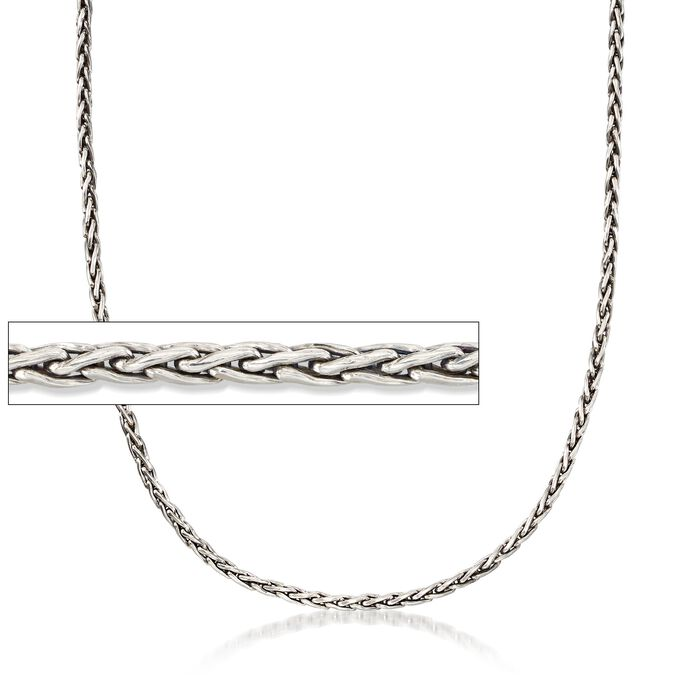 3mm Sterling Silver Wheat Chain Necklace