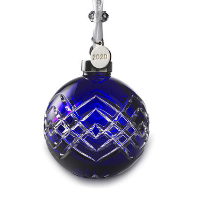 Waterford Crystal 2020 Sapphire Ball Ornament