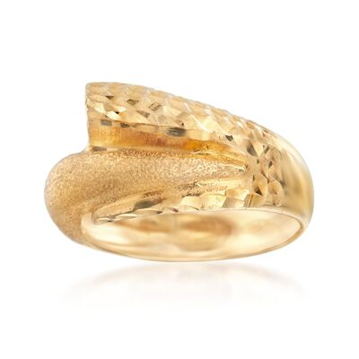Italian 24kt Yellow Gold Over Sterling Silver Wrap Ring, , default