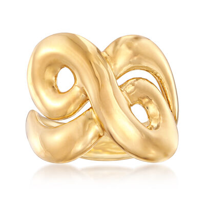 Italian Andiamo 14kt Yellow Gold Swirl Ring, , default