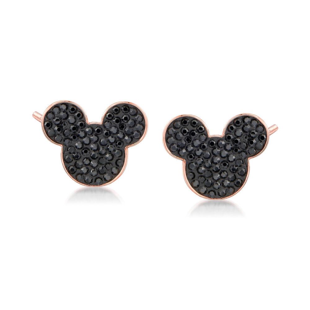730572cf6 Swarovski Crystal Mickey Mouse Stud Earrings in Rose Gold-Plated Metal, ,  default